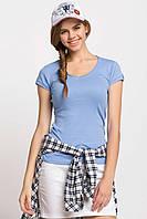 Голубая женская футболка De Facto / Де Факто, фото 1