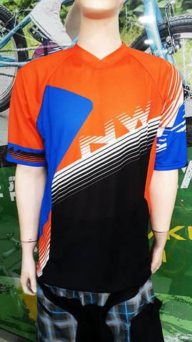 Велоджерсі Northwave DropJersey S/S на короткий рукав синій/помаранчевий