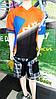Велоджерсі Northwave DropJersey S/S на короткий рукав синій/помаранчевий, фото 3