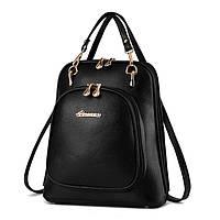 Женская сумка рюкзак трансформер. Стильные женские рюкзаки в четырех цветах: красный, синий, черный, бежевый.