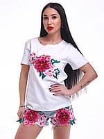Женский костюм: шорты и футболка, в моделях. Д-78-0618 (581, 582), фото 1