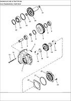 06-36 ПРИВІД НАСОСУ ТРАНСМІСІЇ - привод насоса трансмиссии - transmission - pump drive - трактор Case Magnum 335 - всі запчастини - все запчасти