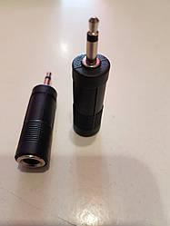 Перехідник штекер 3.5 мм стерео - гніздо 6.3 мм стерео