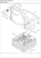 09-28 БЛОК КРІСЛА - блок кресла - seat assembly - трактор Case Magnum 335 - всі запчастини - все запчасти