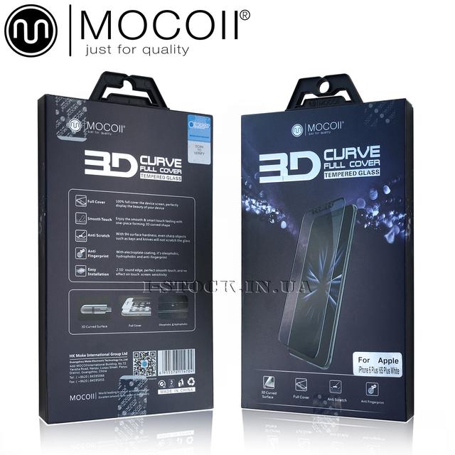 Купить защитное стекло Mocoll для iPhone, 3D Full Cover (0.33 мм) + задняя плёнка