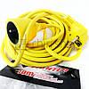 Удлинитель электрический, переноска, 7.4 м, 2*1.5 мм, одноместный удлинитель штепсельный электроудлинитель, фото 3