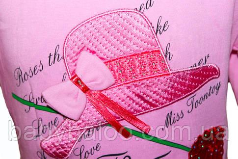 """Батник-туника  для девочки с вышивкой""""Шляпа""""(от 3 до 6 лет), фото 2"""