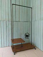 №9 Вешалка Loft мебель лофт торговое оборудование стойка из труб