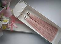 Сережки-кисточки в расцветках, ручная работа (застежка посеребренная) 3SK