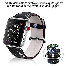 Кожаный сменный ремешок для Apple Watch Band Series 3, Series 2, Series 1, Sport Nike+ (38мм), фото 2