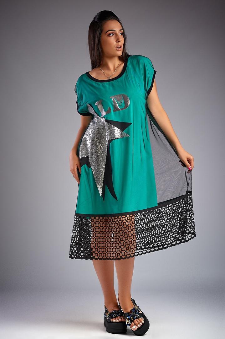 3c8e4812a6a Размеры 50-52 · Оригинальное стильное комбинированное женское платье  большого размера. 3 цвета.