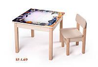 Детская стол-парта для рисования (от 1 до 6 лет, 60*60*52 cм) ТМ Вальтер-С SP1.69, фото 1