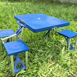 Стол-трансформер с 4 стульями туристический для пикника, стол раскладной на природу (max вес на стул до 90 кг)