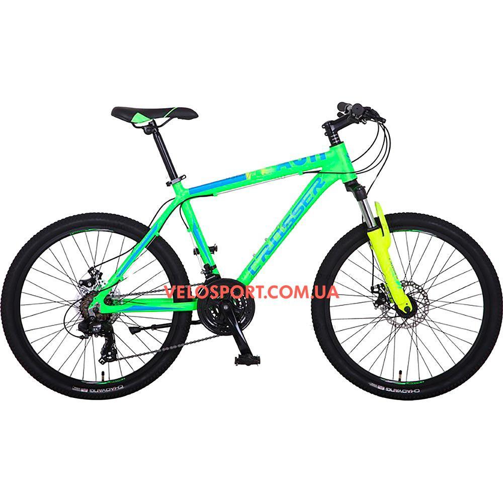 Горный велосипед Crosser Flash 26 дюймов салатовый
