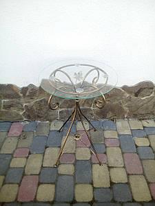 Столик журнальный кованый круглий малий