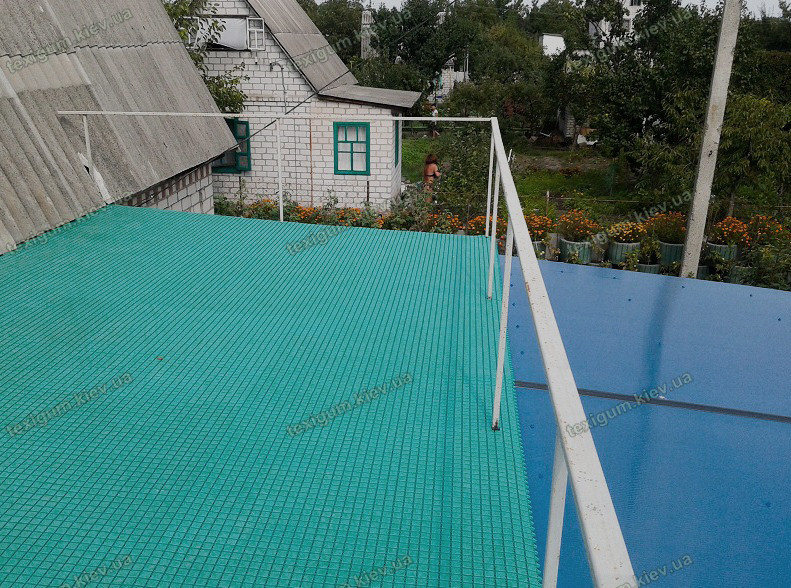 Противоскользящий ковер Аква цвет бирюзовый для бассейнов и влажных помещений
