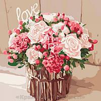 Картины по номерам Розы любви, 40х40см. (КНО2074), фото 1
