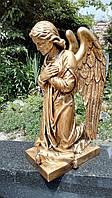 Скульптура ангелочка. Статуя Ангела на кладбище из полимер 50 см