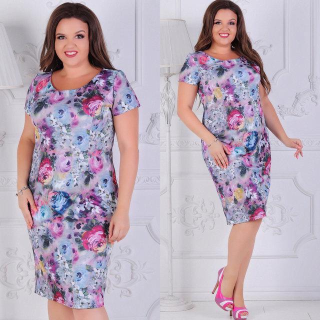 Стильное женское платье р. 50,52,54,56