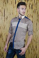 Рубашка мужская из льна в спортивном стиле, фото 1