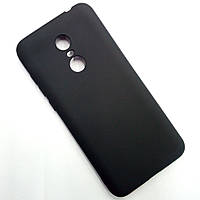 Матовый чёрный чехол для Xiaomi Redmi 5 Plus