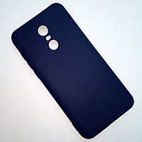 Матовый синий чехол для Xiaomi Redmi 5 Plus
