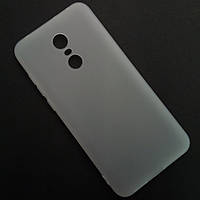 Матовый белый чехол для Xiaomi Redmi 5 Plus