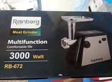 Электромясорубка соковыжималка Rainberg RB-672- реверс 3000W