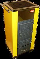 КОТВ-18 VIP котел твердотопливный с чугунными дверцами, твердотопливные котлы, котлы на твердом топливе.