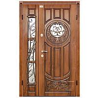 Входная металлическая бронированная дверь « Milita » АП-1 тм Абвер со стеклопакетом и ковкой