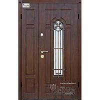 Входная металлическая бронированная дверь Артемида к7 тм Абвер со стеклопакетом и ковкой