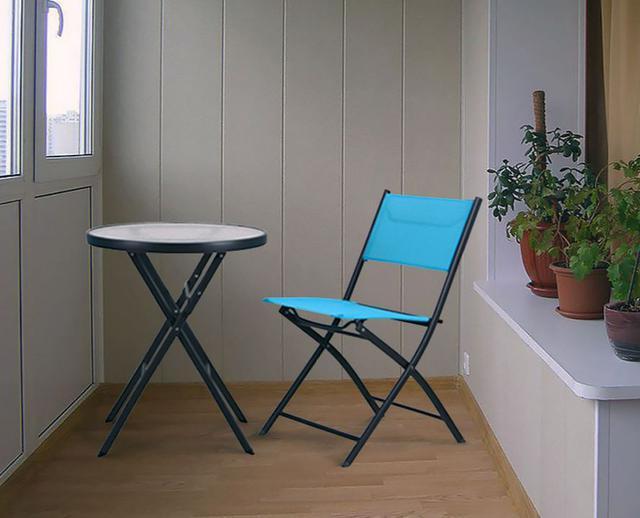 Стул Linda т.серый, голубой со столом Maya (фото 3)