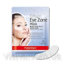 Коллагеновая маска для области вокруг глаз PUREDERM в упаковке 30 шт.