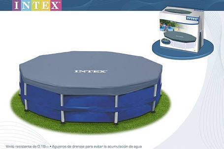 Тент для круглого каркасного бассейна Intex 28031 диаметр 366 см, фото 2