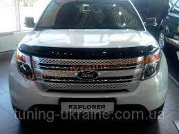 Дефлектор капота, мухобойка Ford Explorer 2011- VIP