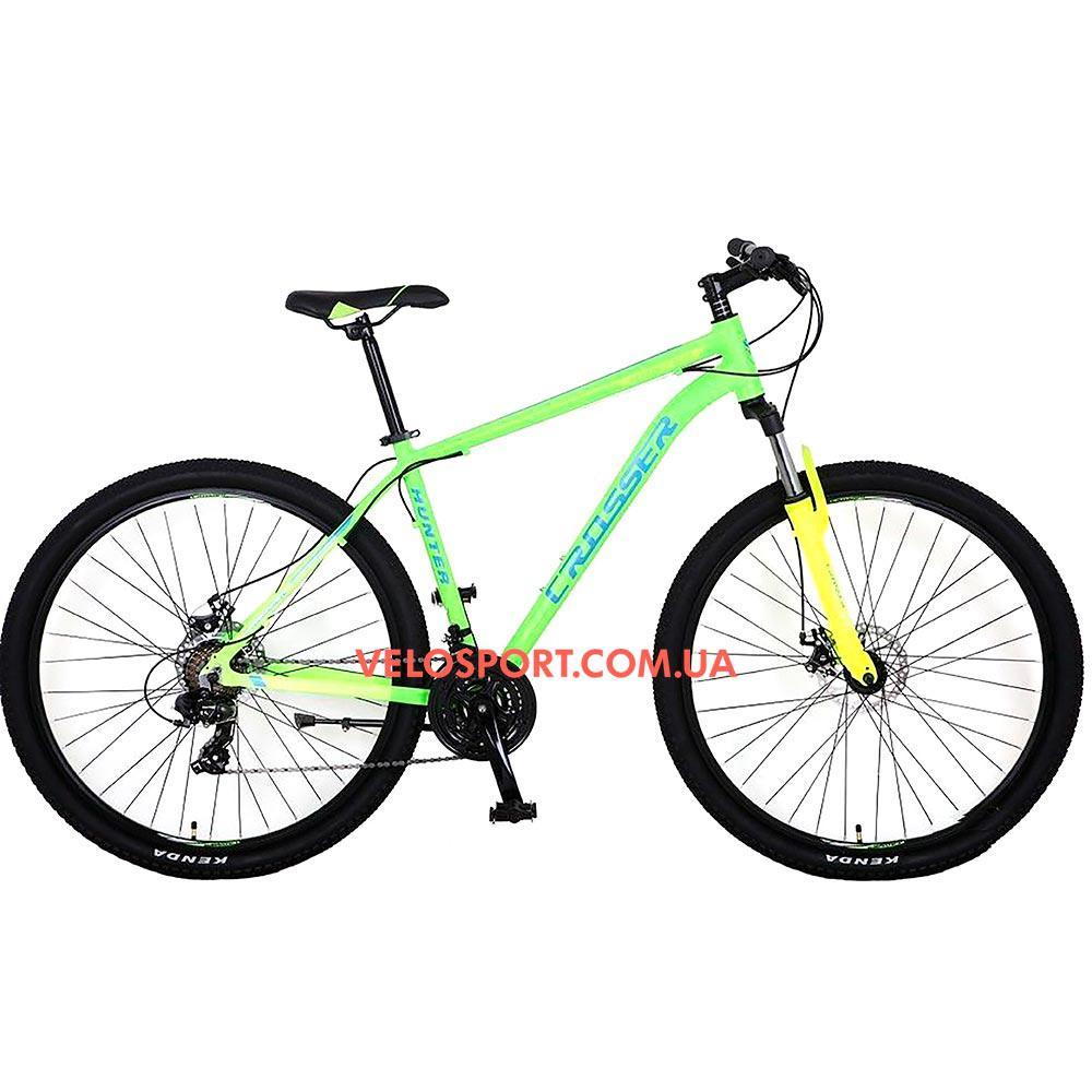 """Горный велосипед Crosser Hunter 29 дюймов 19"""" салатовый"""