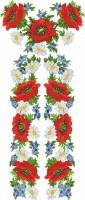 Заготовка для вышивки бисером или крестиком платья-украинская вышиванка