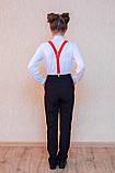 Шкільні штани з лампасами, фото 2