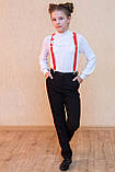 Шкільні штани з лампасами, фото 3