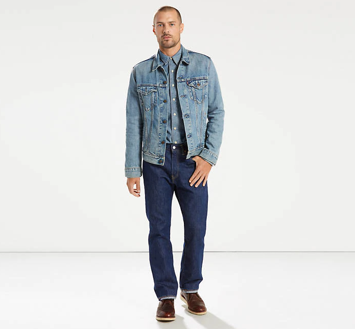 Джинсы Levi's® Made In The Usa 505™ Regular Fit Jeans - Rinse
