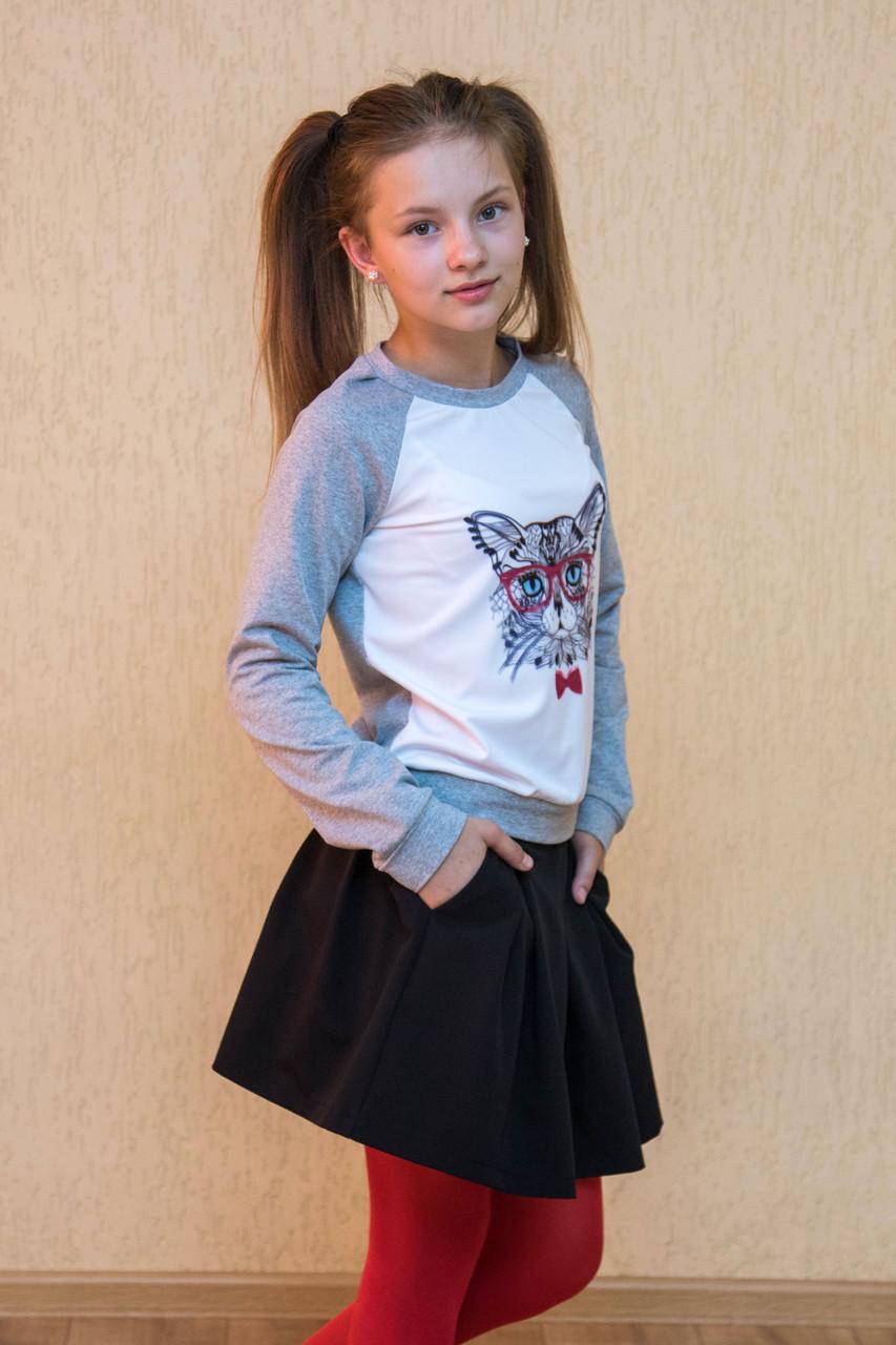 Спідниця шкільна для дівчинки з кишенями