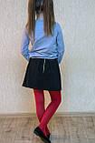 Спідниця шкільна для дівчинки з кишенями, фото 2