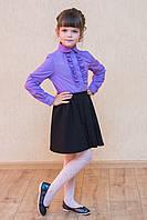 Детская школьная юбка с защипами