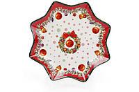Тарелка Рождественская, фарфор 20,5 см