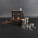 Набор подарочный Витязь (фляга (0.5л), 2 стопки,), кожа, фото 2