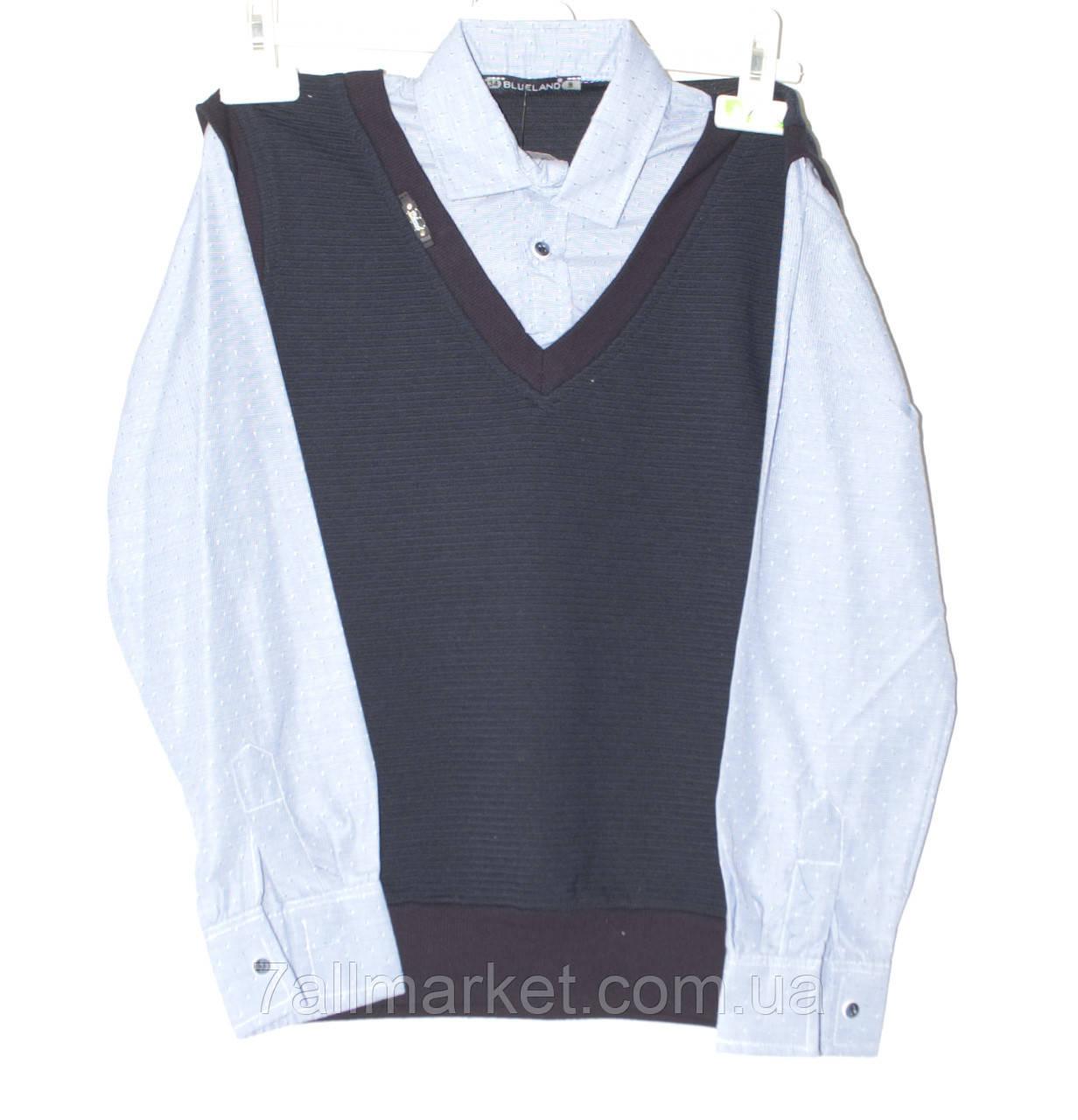 d0ede5e28cc Рубашка-обманка школьная на мальчика 134-170 см Серии