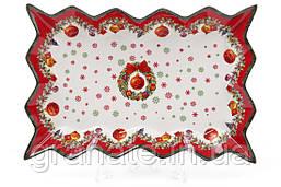 Бдюдо рождественский мотив фарфоровая 35,5 см