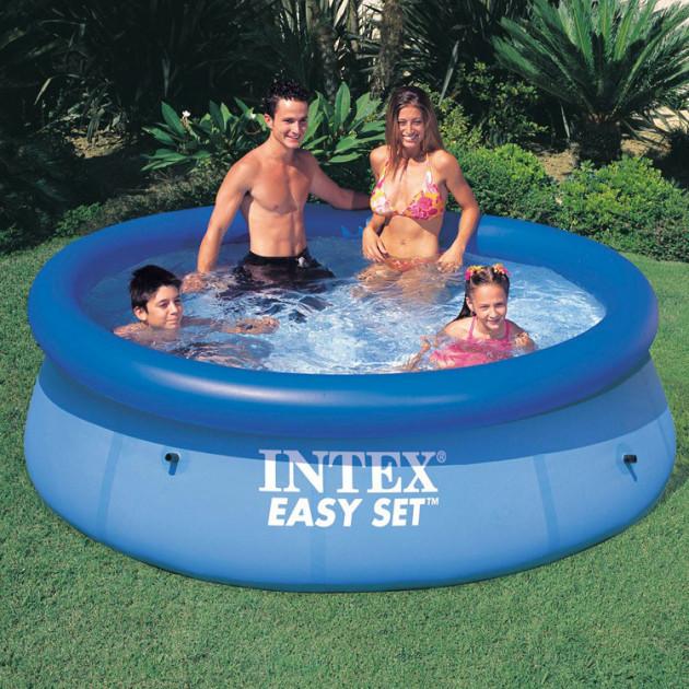 Надувной семейный бассейн Intex 28110 размер 244*76 см