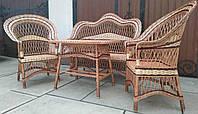 Комплект плетеной мебели с диваном