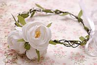Венок Свадебный с пионами
